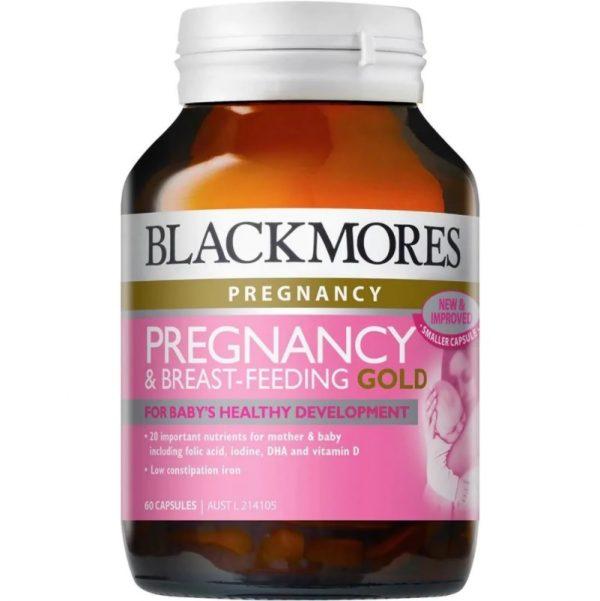Blackmores Pregnancy and Breast Feeding Gold (chai 60 viên)  - Viên uống dành cho Phụ nữ chuẩn bị mang thai, trước và sau khi sinh.
