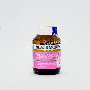 Thực phẩm chức năng Blackmores Pregnancy and Breast Feeding Gold - Viên uống dành cho Phụ nữ chuẩn bị mang thai, trước và sau khi sinh.