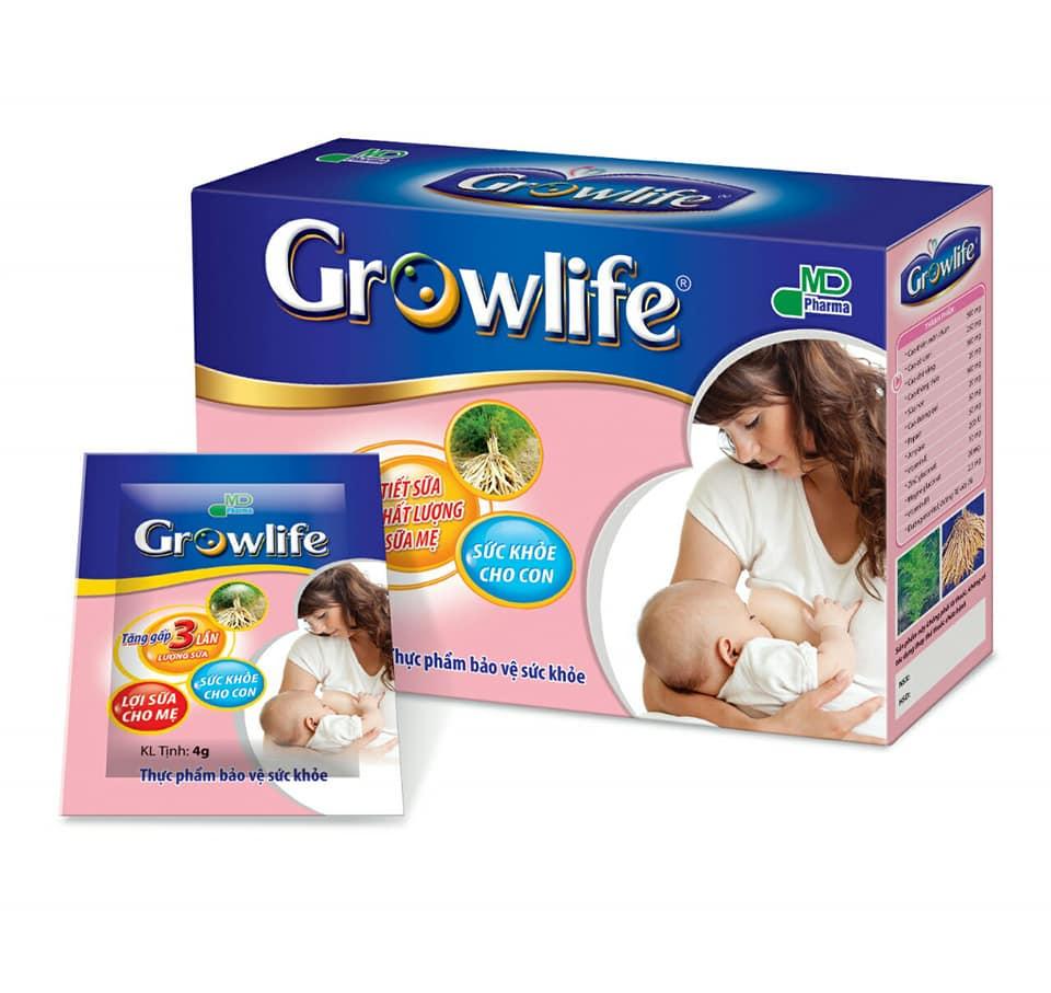 Sản phẩm hỗ trợ sức khỏe cốm lợi sữa Growlife là sản phẩm được nhiều người Việt tin dùng.