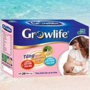Cốm lợi sữa Growlife 20 gói – các thông tin hữu ích để nuôi con bằng sữa mẹ