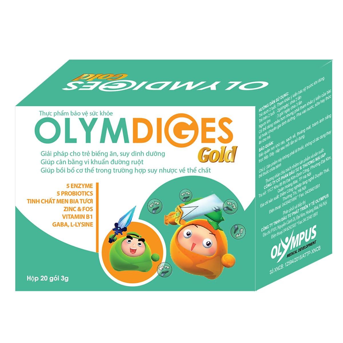 Cốm Olymdiges Gold trợ thủ đắc lực cho hệ tiêu hóa tốt