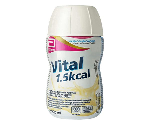 Sữa Vital 1.5 kcal thích hợp cho bệnh nhân suy giảm chức năng tiêu hóa.