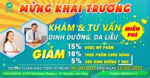 Tưng bừng Khuyến Mãi NHÂN DỊP KHAI TRƯƠNG Chi nhánh 3 H&H Nutrition Tại Lâm Đồng Ngày 06/03/2021