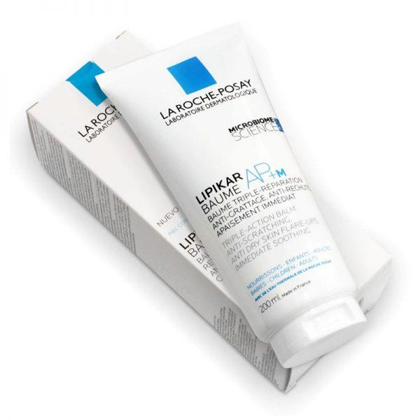 Kem dưỡng làm dịu da dùng cho da bị khô, ngứa dùng được cho trẻ sơ sinh và trẻ nhỏ La Roche - Posay Lipikar Baume AP+M Triple-Action Balm (200 ml)