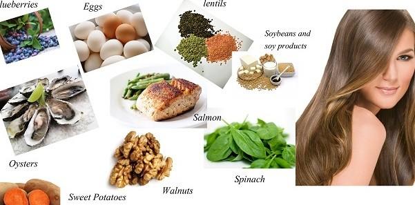 Các chất dinh dưỡng ảnh hưởng rất lớn đến rụng tóc