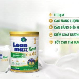 Sữa Lean max Rena Gold 1 – Nguồn dinh dưỡng thiết yếu cho bệnh nhân suy thận trước lọc, hỗ trợ kiểm soát đường huyết