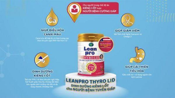 Sữa Lean Pro Thyro Lid - Dinh dưỡng cho người kiêng I - ốt, dễ hấp thu