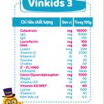 Sữa non Vinkids số 3 Grow & IQ – Giúp trẻ cao lớn, thông minh