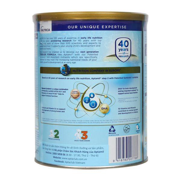 Các thành phần dinh dưỡng đặc biệt của Aptamil 2