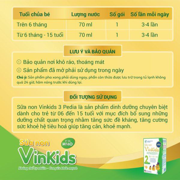 Sữa non Vinkids số 2 Pedia - Tăng cân an toàn, khoẻ mạnh
