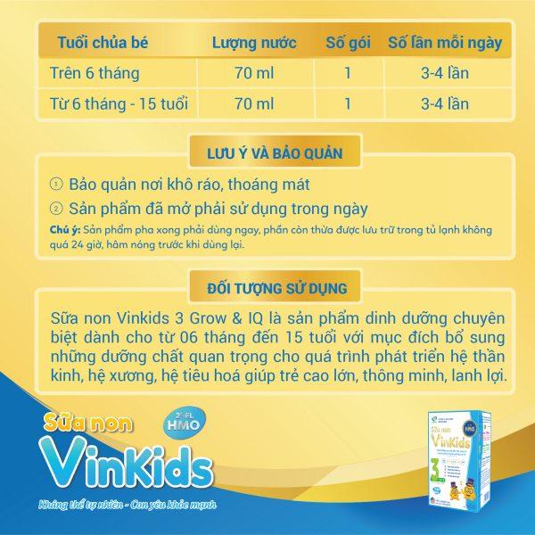 Sữa non Vinkids số 3 Grow & IQ - Giúp trẻ cao lớn, thông minh