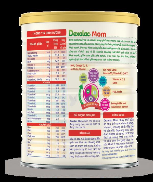 Sữa Dexolac Mom - Đồng hành cùng mẹ trong thai kỳ