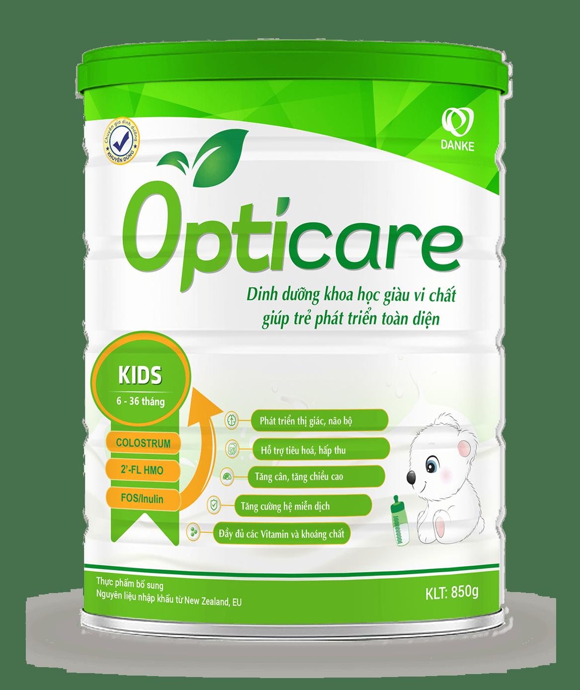 Sữa Opticare Kids