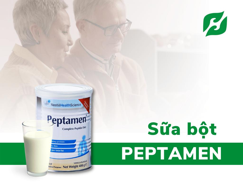 sữa cho người ung thư bị tiểu đường Peptamen hương vanilla bổ sung đạm Whey