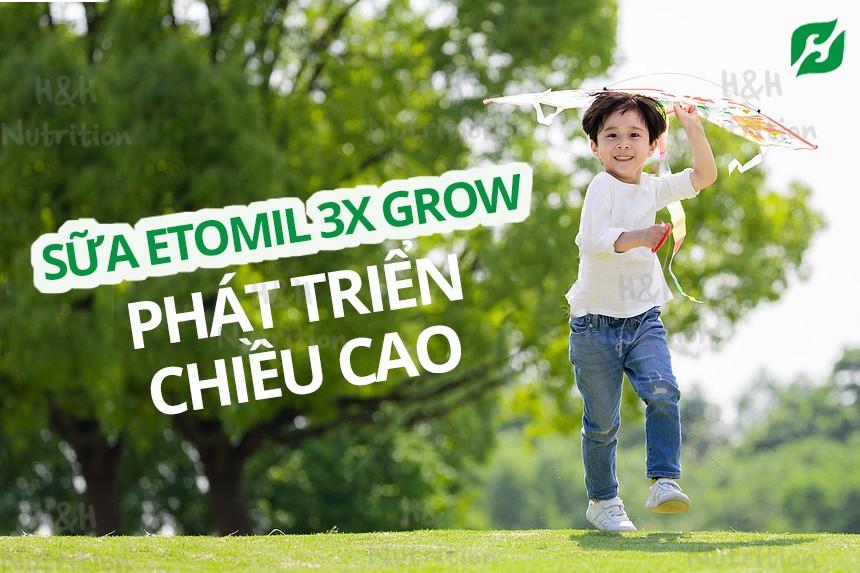 Sữa etomil 3x Grow phù hợp cho sự phát triển toàn diện của trẻ