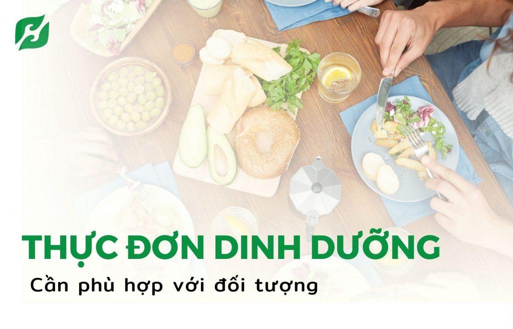 Thiết kế thực đơn dinh dưỡng phù hợp với đối tượng