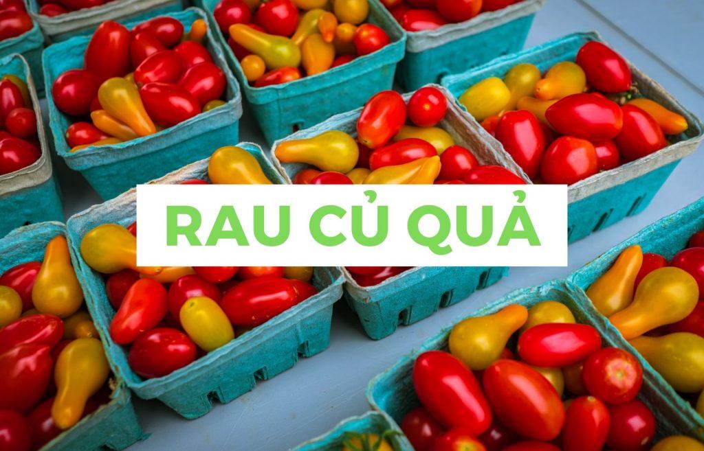 Thiết kế thực đơn dinh dưỡng nhiều rau các loại và hoa quả