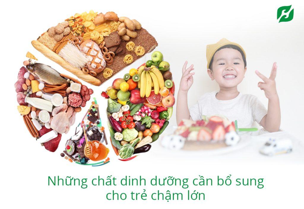 Trẻ suy dinh dưỡng cần bổ sung đầy đủ các nhóm thực phẩm: đạm, đường, béo, vitamin – khoáng chất