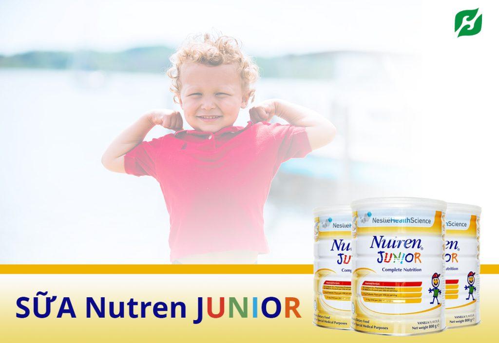 Sữa Nutren Junior Nestlé Thụy Sĩ 400g - sữa cho cho trẻ suy dinh dưỡng từ 1-10 tuổi