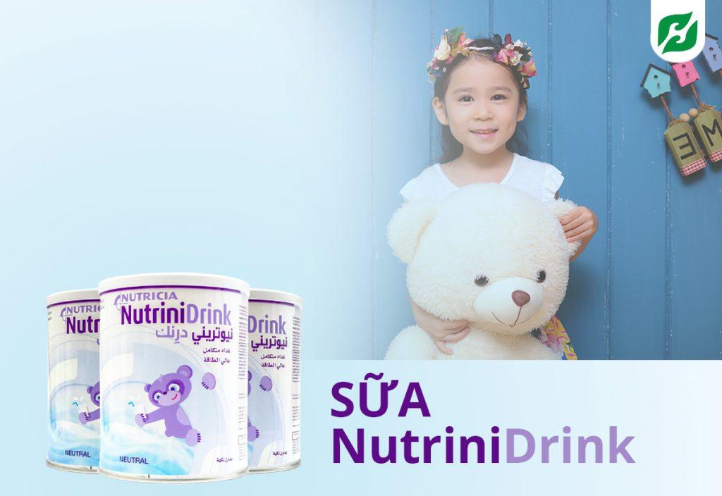 Sữa NutriniDrink Powder Neutral 400g – sữa cho trẻ suy dinh dưỡng và biếng ăn bắt kịp đà tăng trưởng