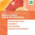 Mặt nạ Mask Science Snow Brightening 100% Cotton cho da nhạy cảm