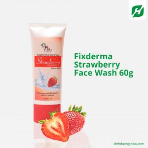 Fixderma Strawberry Face Wash 60g - Sữa rửa mặt dâu tây trẻ hóa làn da