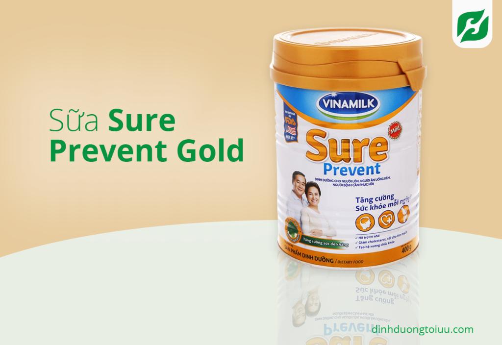 Sữa Sure Prevent Gold thích hợp cho những người lớn tuổi, người bị loãng xương