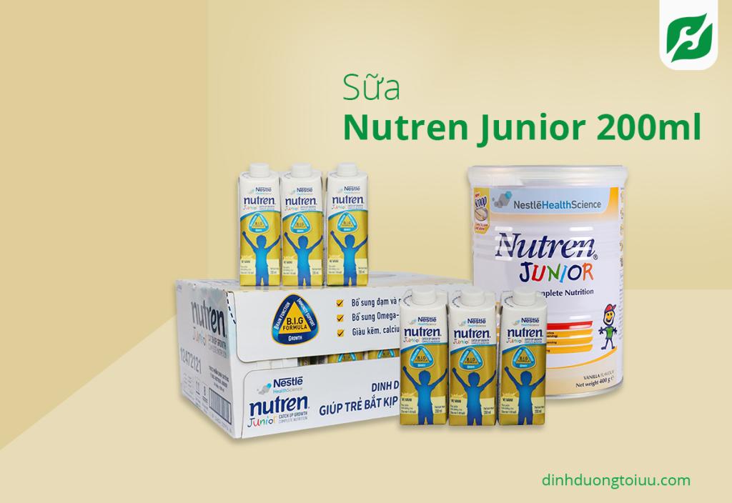 Sữa Nutren Junior 200ml giúp trẻ được phát triển toàn diện về thể chất và cả trí tuệ