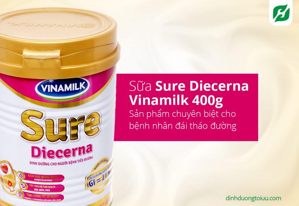 Sữa Sure Diecerna Vinamilk 400g - sản phẩm chuyên biệt cho bệnh nhân đái tháo đường