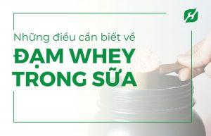 Những điều cần biết về Đạm Whey trong sữa