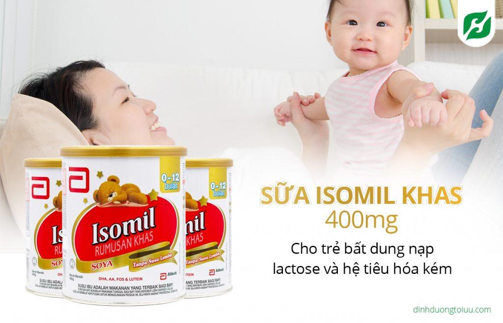 Sữa ISOMIL Khas 400mg cho trẻ bất dung nạp lactose và hệ tiêu hóa kém