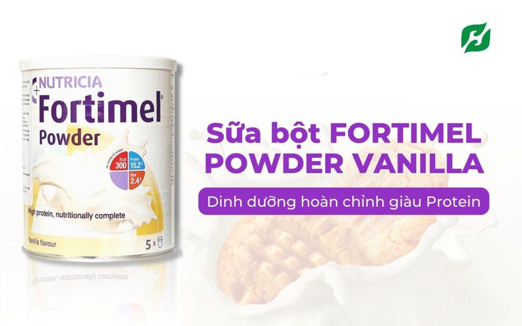 Sữa bột FORTIMEL POWDER VANILLA 335g – Dinh dưỡng hoàn chỉnh giàu Protein